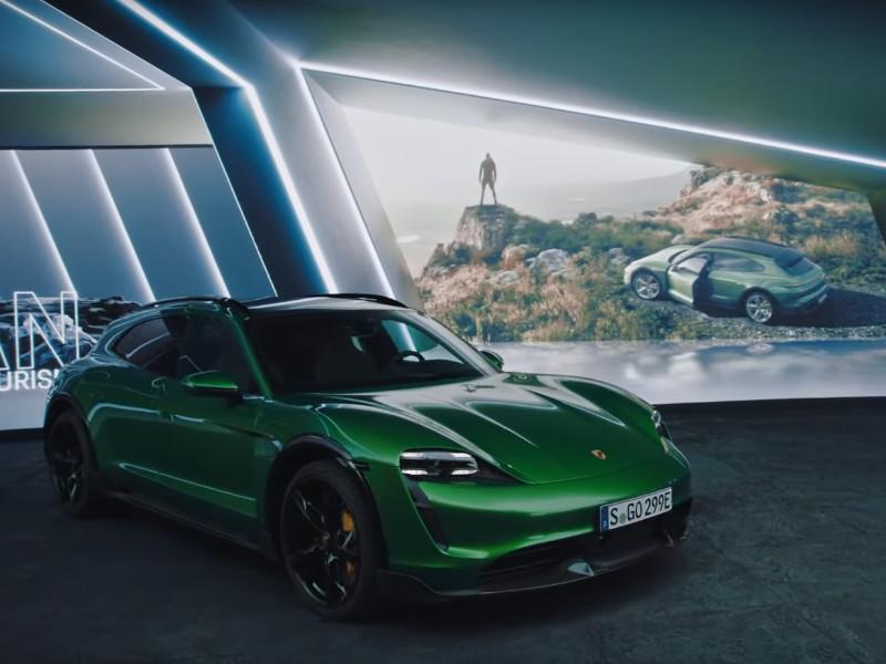 Компания Porsche представила электрический универсал Taycan Cross Turismo