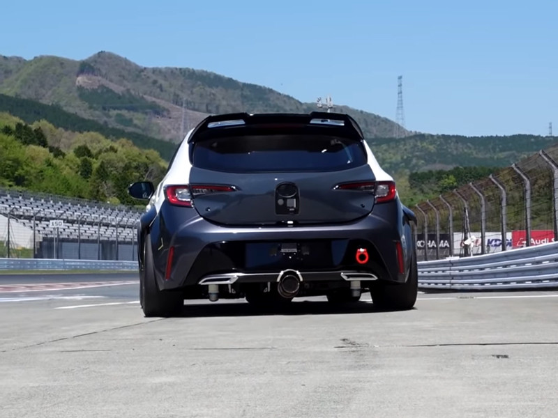 Toyota показала гоночную Corolla с водородным ДВС